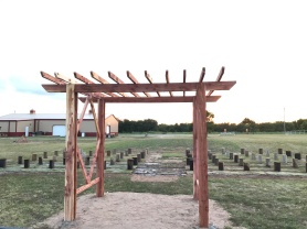 Outdoor Wedding Arbor and Bench Seating